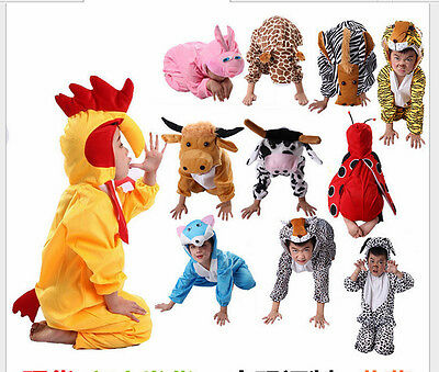Halloween Child Animal Fancy Kigurumi Cosplay Dress Costume Cow Tigger and so on