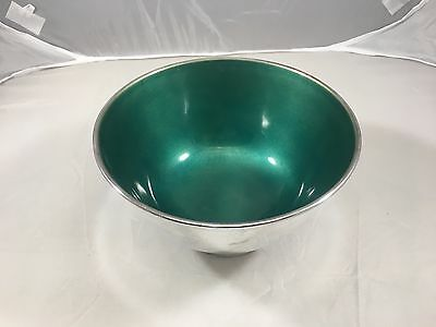 TOWLES - Silver Plated Green Enamel Bowl Candy Dish