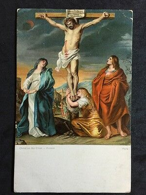 Vintage Postcard - Religious #51 - Misch & Co - Christ On The Cross - Rubens