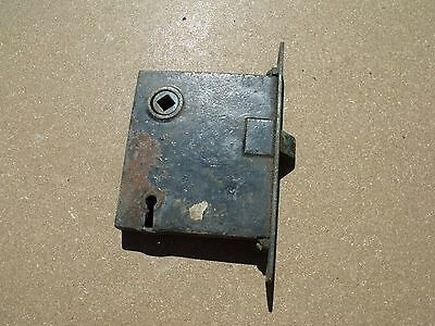 "Vintage Hardware Mortise Lock & Plate Use Repair Parts 3 9/16"" x 3 1/16"""