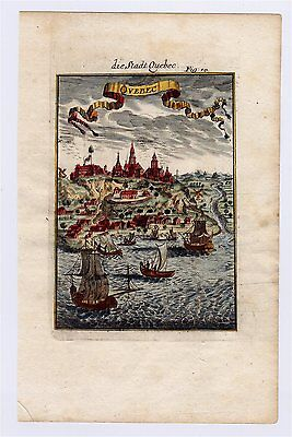 1683 Mallet View Of Quebec City / Canada