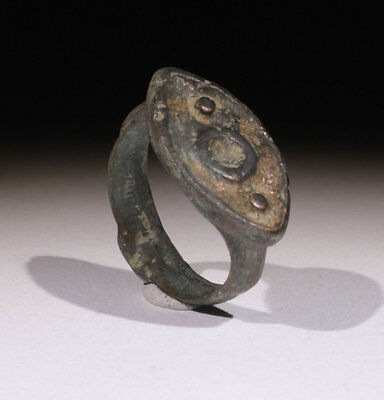 Very Nice Byzantine Bronze Ring - Circa 6Th Century Ad  - No Reserve!!