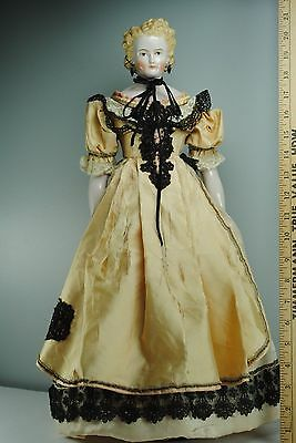 Emma Clear Antique Parian China Head Reproduction Doll With Earrings