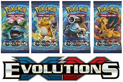 Pokemon XY12 Evolutions 4 Booster Packs - All 4 Types - Brand New And Sealed!