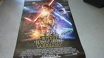 Star Wars The Force Awakens Double Sided Theatrical poster one sheet 27x40