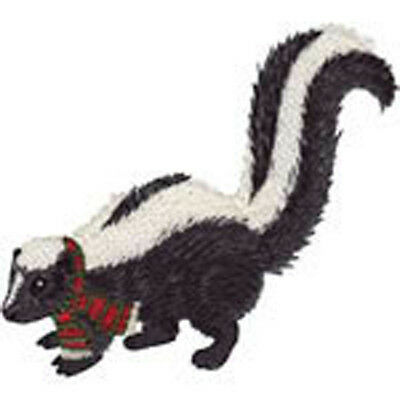 Christmas Skunk with Ribbon Embroidery Patch