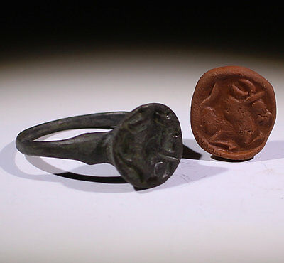 High Quality Ancient Roman Bronze Seal Ring Circa 2Nd Ad  - No Reserve!!