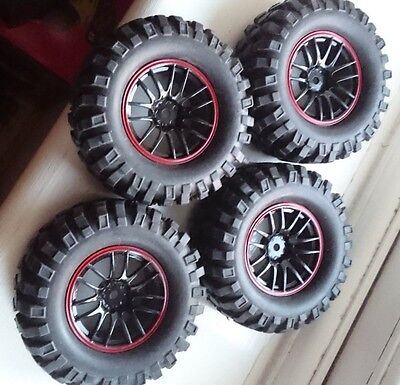 Rims & Tires RC Car Wheels for 1;10  scale on 12 mm hex. 4 pcs