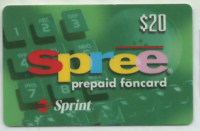 USA Sprint - Prepaid Card 20$ Spree foncard RS espaniol +++