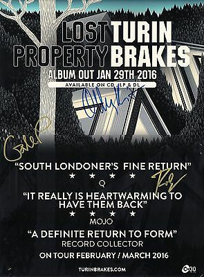 Turin Brakes - SIGNED Poster 2016