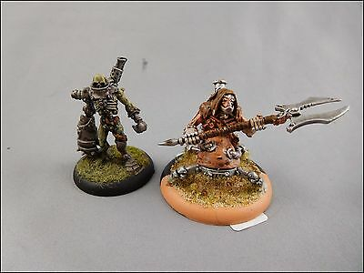 Necrotech & Scrap Thrall – Metal [x2] Cryx [Warmachine ] Painted