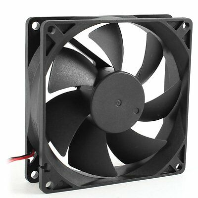 H1 92mm x 25mm DC 12V 2Pin 65.01CFM Computer Case CPU Cooler Cooling Fan