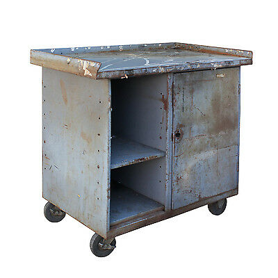 Reclaimed Industrial Work Table, Colonial Bread, NCRT9