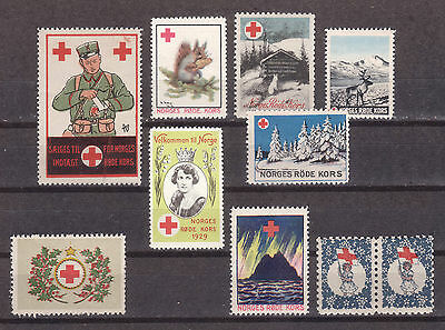 s203 | Norway, mint Red Cross seals of the 1920s to 1940s