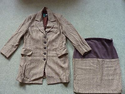 FORMES - Maternity Skirt Suit - Size 10 - cost £285
