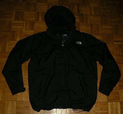 """The North Face Gore-Tex """"XL"""" Black Mens Jacket Hooded Jacke Camping Hikking"""