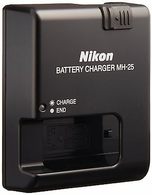 Brand New Authentic Nikon MH-25 MH25 Battery Charger EN-EL15 D7100 UK power lead