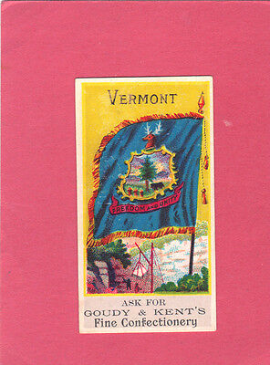 "Goudy & Kent ""Bakers & Confection"" (Vermont)  Crackers-Biscuits card"
