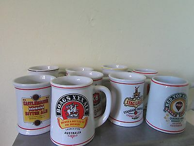 Great Australian Breweries Tankard Collection by Franklin Mint 9 in total