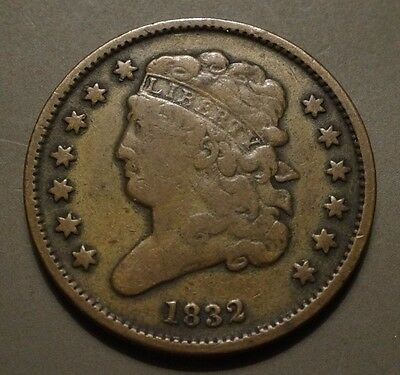 Beautiful Patina!  --  1832 Classic Head Half Cent  --  Only 51,000 Minted!