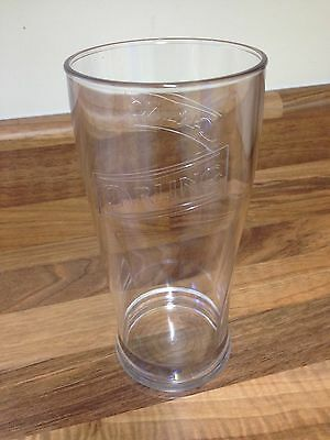6 X Polycarbonate Carling Pint Glasses New