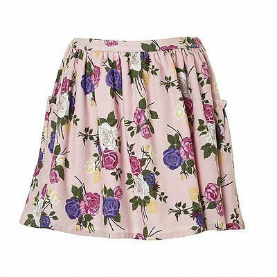 "BNWT Girls ""Their Nibs""  Rose Print Twil Cord Skirt - Various Sizes"