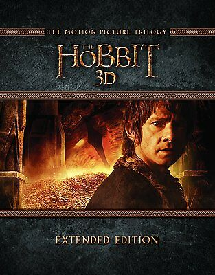 The Hobbit Trilogy 3D - Extended Edition (Blu-ray 2D/3D) BRAND NEW!!