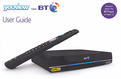 Original) New Bt Youview Humax Dtr-T4000 4K Ultra Hd Box 1 Tb,