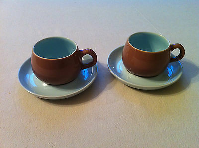 Vintage Denby Langley - 2 coffee cups and saucers