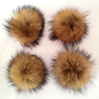 Fashion Real Fur Big Pompom Decor Corsage Clothing Headpieces Keyrings Accessory