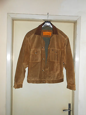 Giacca jacket Timberland in pelle/leather jacket vintage anni 80 Tg. 50