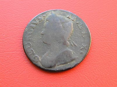 Early milled George II halfpenny 17?? date not quite readable (ref 336)