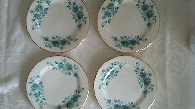 Vintage Queen Anne side plates x 4