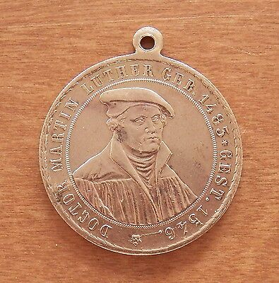 Germany - Old Luther Medal - 1883 - 400 Years Birthday - Bronze - Scarce -