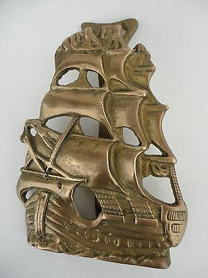 Vintage  Solid  Brass  Nautical Galleon Ship Door knocker, Great Appearance