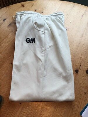 GM Large Boys/Men's Small Cricket Whites Trousers