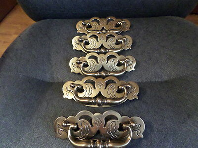 Polished Brass Drawer Pulls / handles 5 with Screws