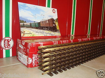 Lgb 10610 Brass 4 Ft Straight Track Box Of 6 Pcs New + Free 2016 Flyer Included!