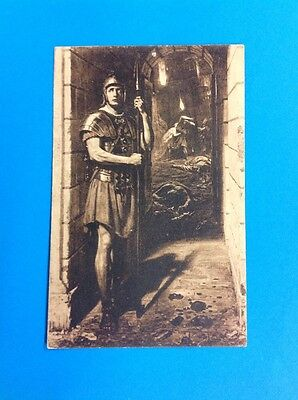 Original Religious Message Postcard Roman Soldier Society For Prayer