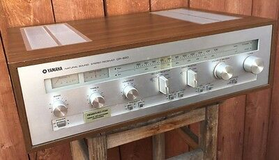 ~Vtg~ 70'S YAMAHA CR-620 STEREO RECEIVER NATURAL SOUND NIPPON MADE IN JAPAN