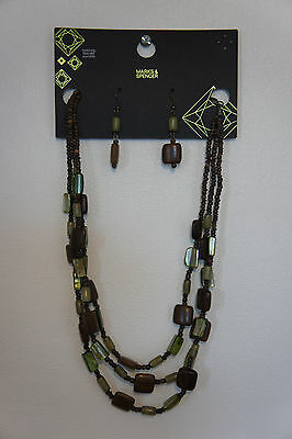 New Marks & Spencers Costume Jewellery Set (Necklace & Earrings)