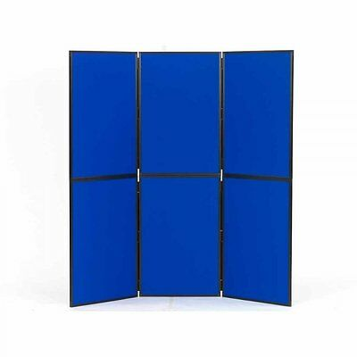 6 Panel Exhibition Display Board blue, Plastic Frame & lightweight Carry Case
