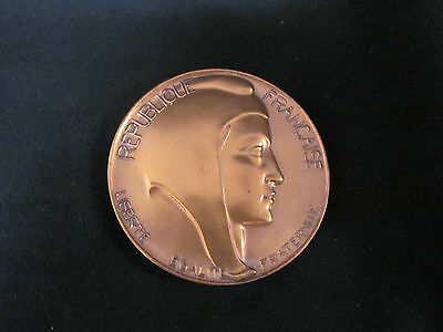 Republique de Francaise Bronze Medallion