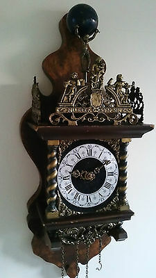 Vintage Large Dutch Zaandam Wall Clock with Bell Strike