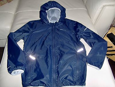 Girls Regatta waterproof jacket, size 32, aprox age 11-13 years, navy