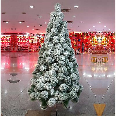 5ft 150cn Artificial Christmas Tree Snow Covered Pine Tips Xmas Home Decorations