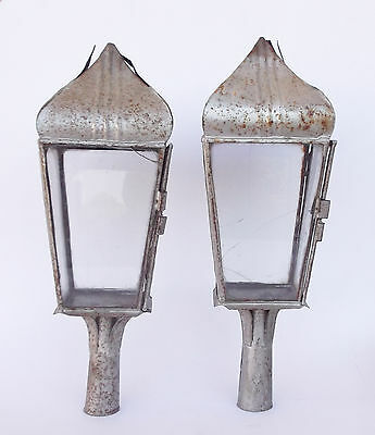Antique Pair Of Processional Lanterns