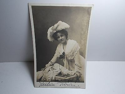 English Stage  Actress Ellaline Terris   Signed Photo Postcard Early 1900's