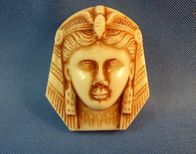 Small Egyptian Style Carved Button or Pendant