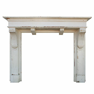 Handsome Antique Arts & Crafts Fireplace Mantel, c.1920, NFPM112